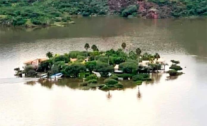 Isla de Tzibanzá se queda bajo el agua