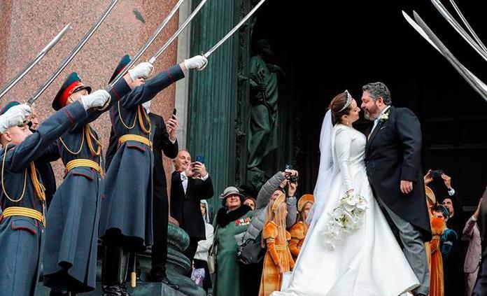 El heredero al trono de los zares se casa en San Petersburgo