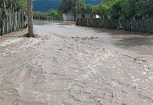 Fuerte tormenta inunda comunidad de San Miguel