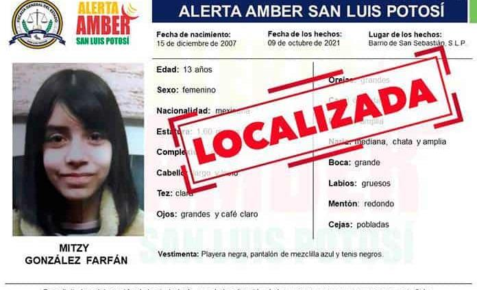 Localizan a adolescente con Alerta Amber