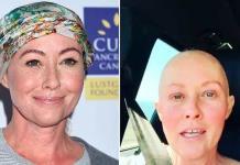 Shannen muestrasu fortaleza contra el cáncer