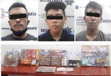 Capturan a banda de asaltantes en tiendas de conveniencia