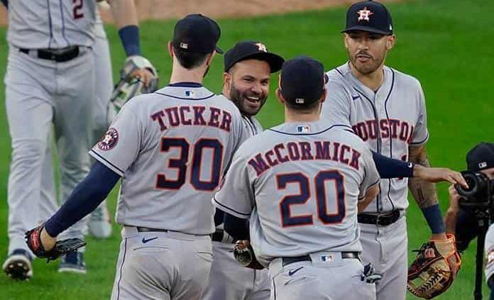 Astros vapulean a Medias Blancas