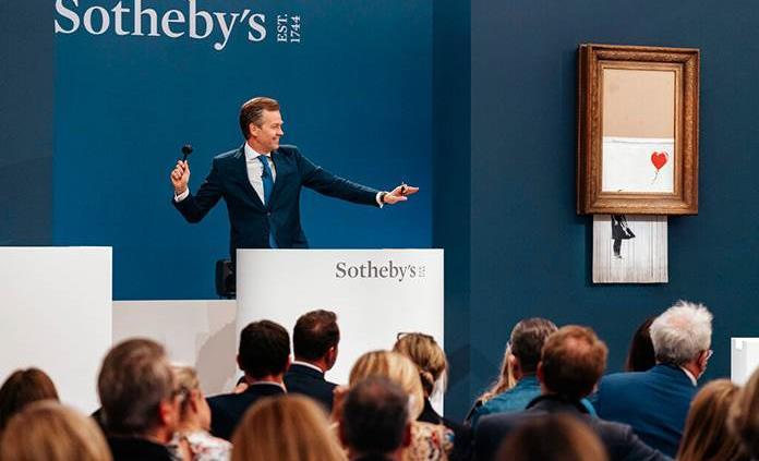 El Banksy triturado se vende por un récord de $25.4 millones de dólares