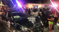 Chocan patrulla de la Policía Estatal y camioneta particular en la Progreso